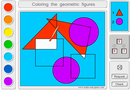 Online coloring of geometrical figures