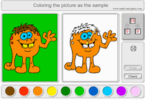 Online coloring as an example