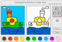 Online coloring on mirror view